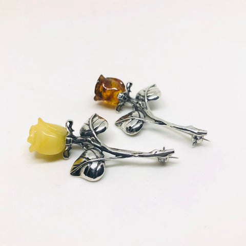 Rose Pins in Butter or Honey Amber