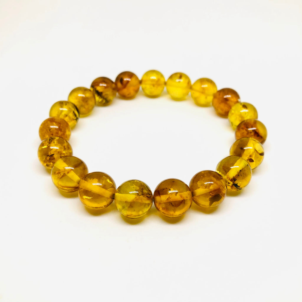 Amber Ball Bracelet on Elastic (variety of shades)