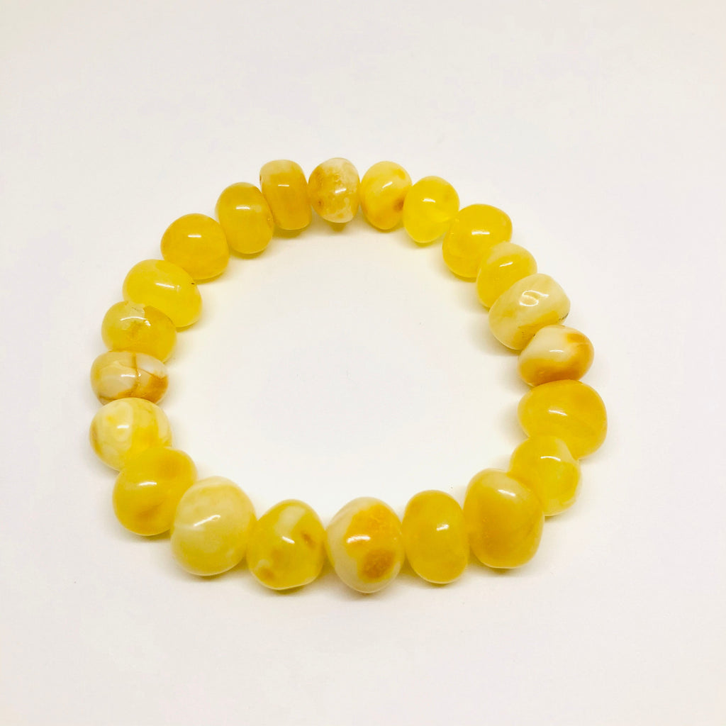 Baltic Amber Rounded Butter Beads Bracelet