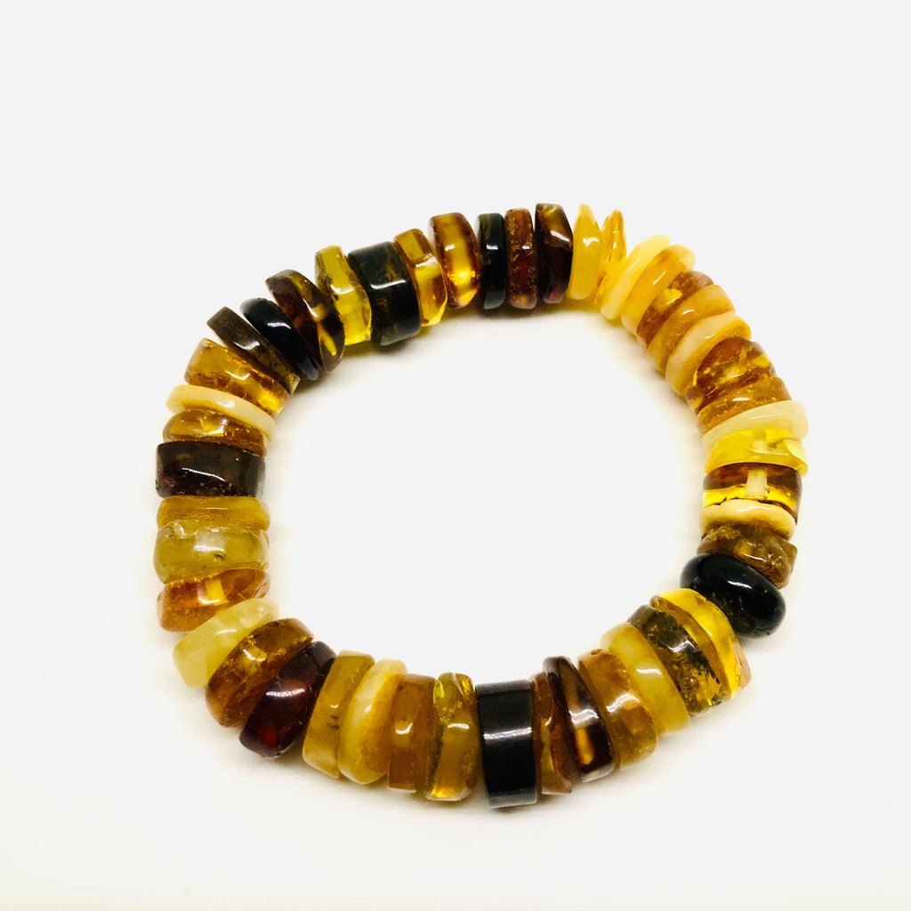 Baltic Amber Variety Slices Bracelet