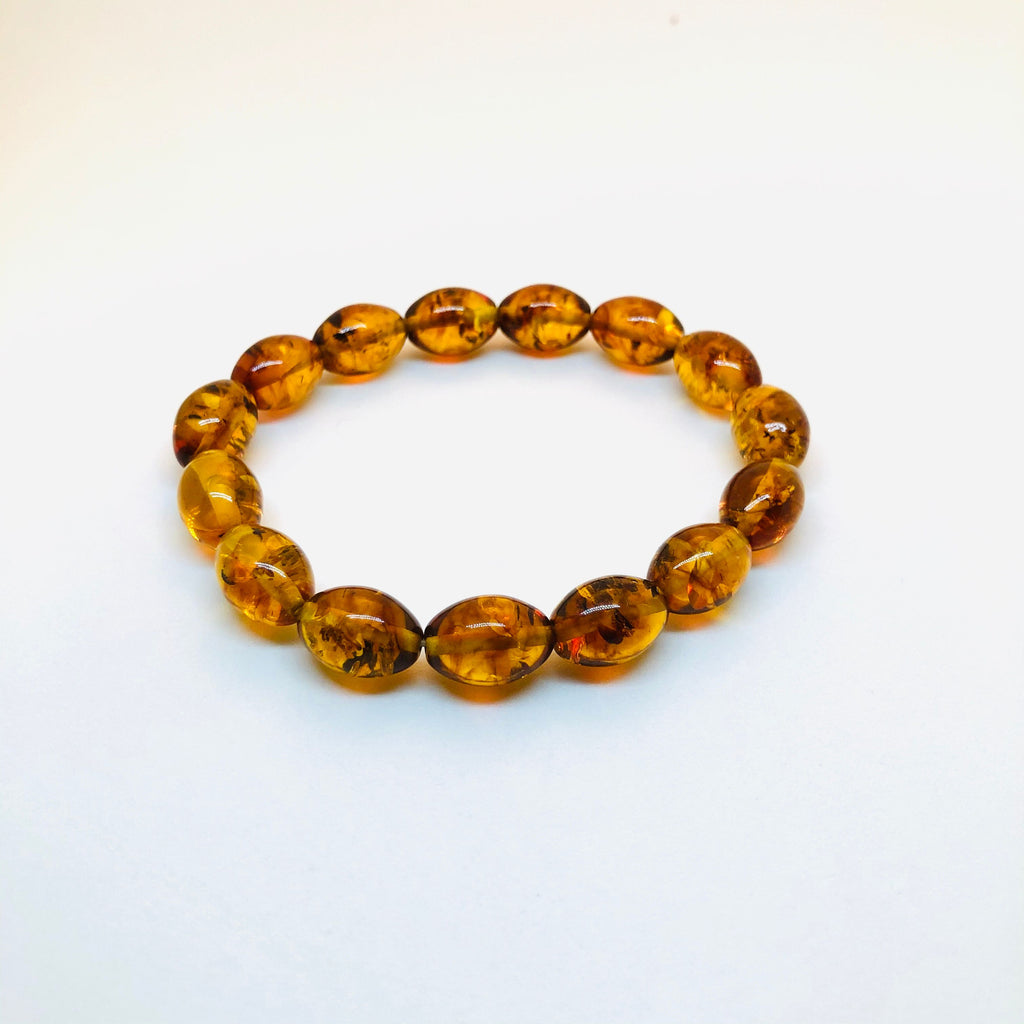 Baltic Amber Oval Beads Bracelet
