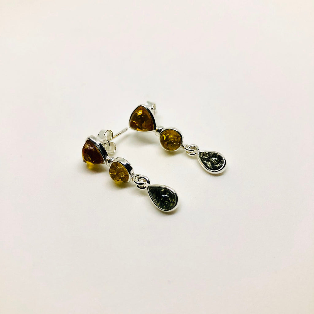 Multicolour and Multishape Amber Earrings