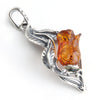 Baltic Amber Rose Pendant available at The Amber Room!