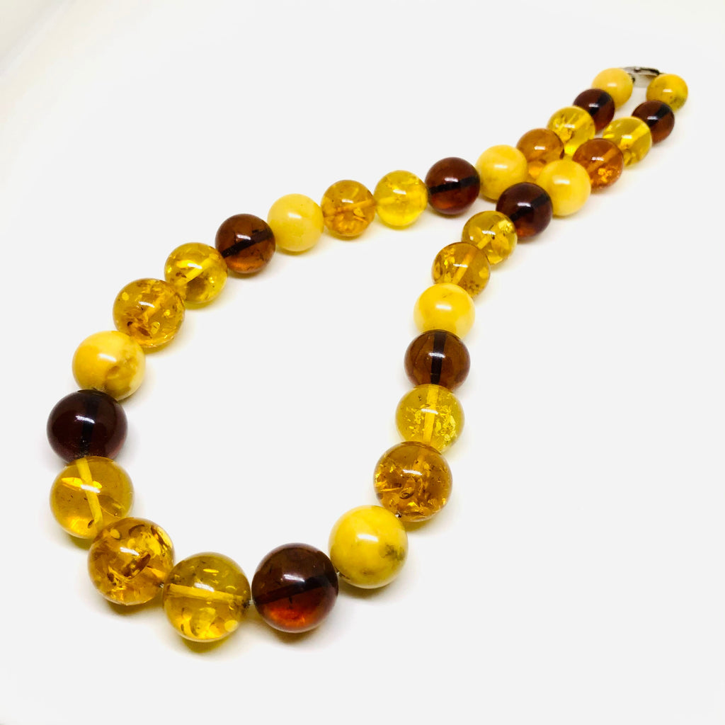 Baltic Amber Multicolour Ball Necklace