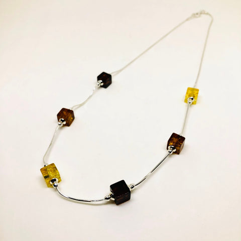 Amber Cube Necklace