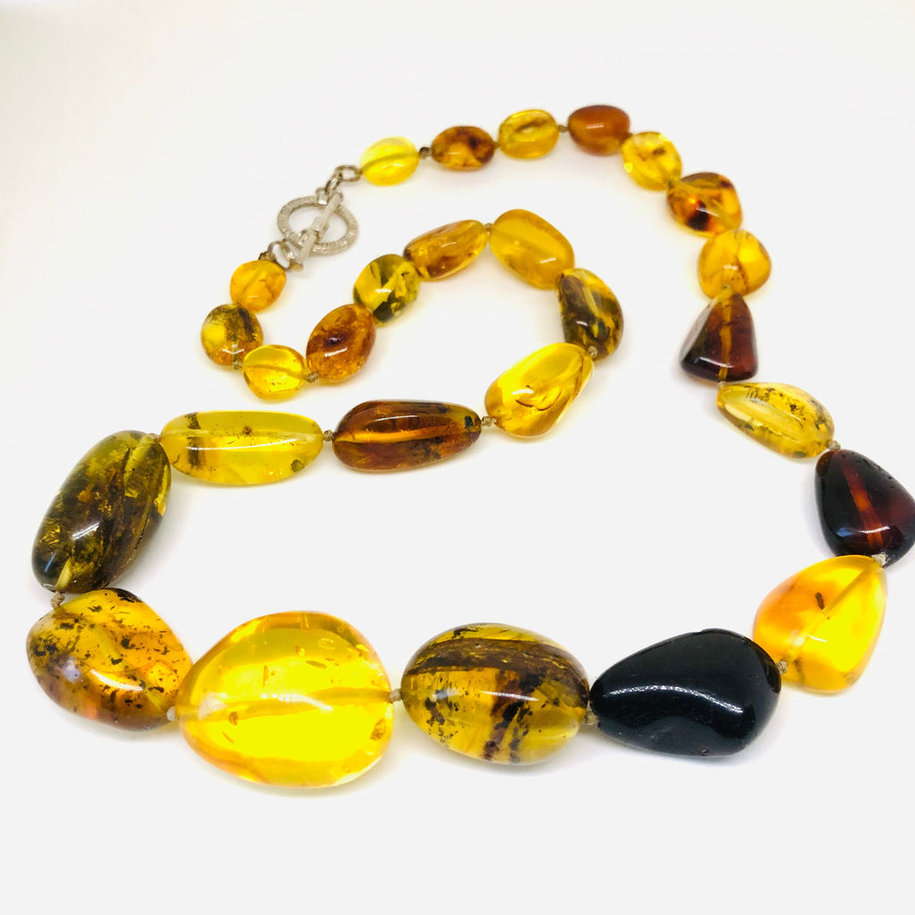 Large Multicolour Baltic Amber Necklace