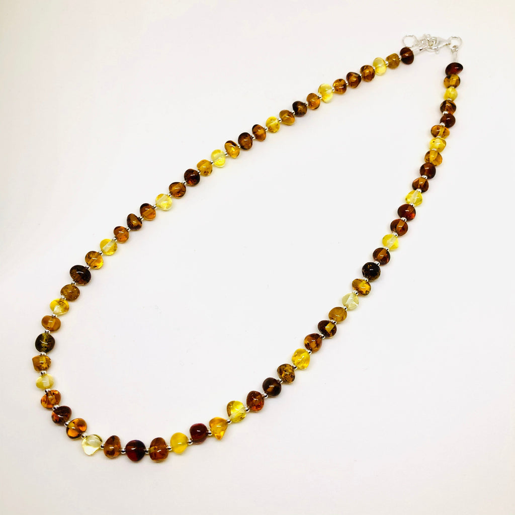 Amber and Silver Multicolour Necklace
