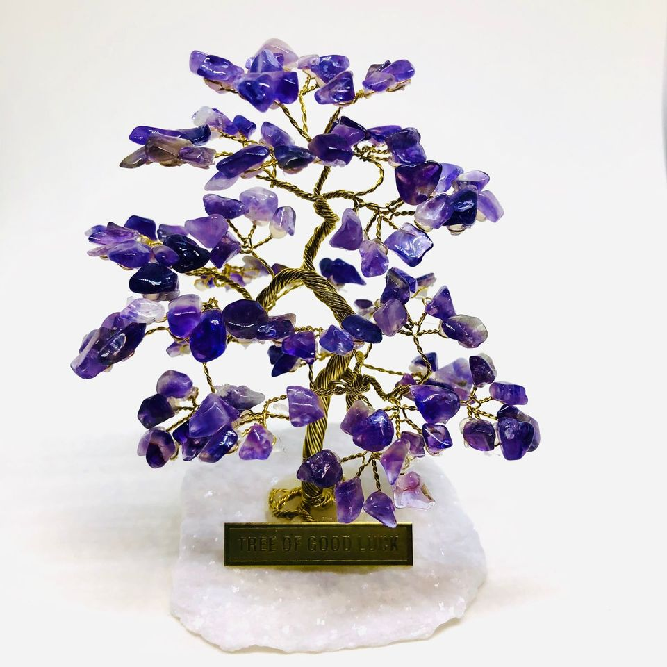 AMETHYST Tree Of Good Luck - R4