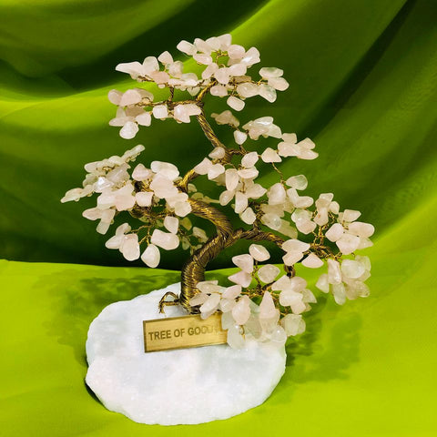 ROSE QUARTZ Tree of Good Luck - L1