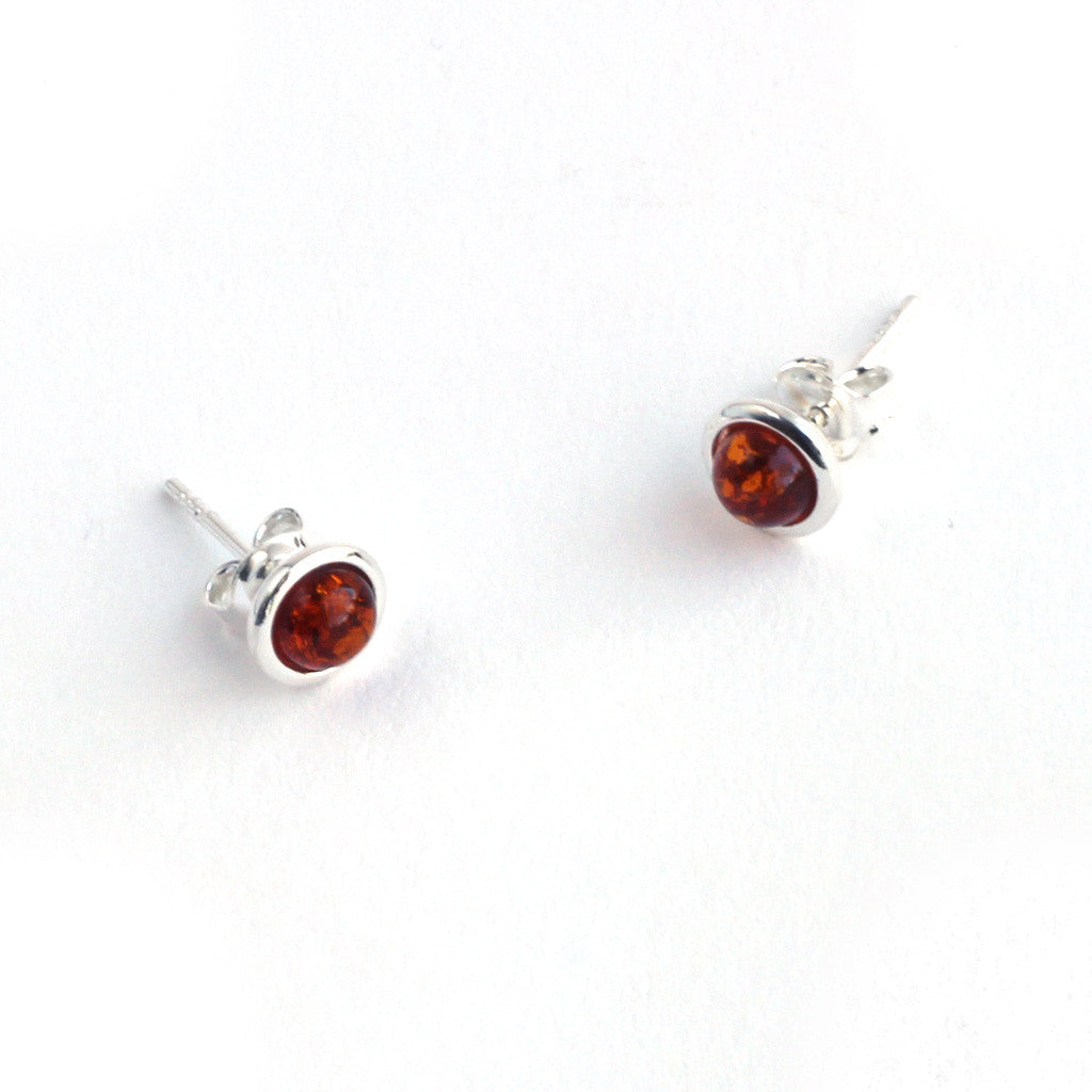 Baltic Amber Stud Earrings available at The Amber Room