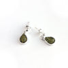 Baltic Amber Hanging Elegant Teardrop Earrings - Green Amber Color available at The Amber Room