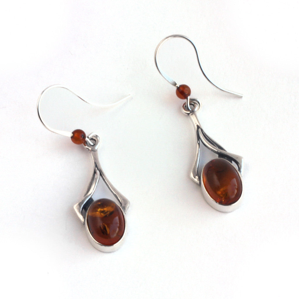 Baltic Amber Hanging Earrings available at The Amber Room