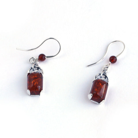 Baltic Amber Celtic Earrings