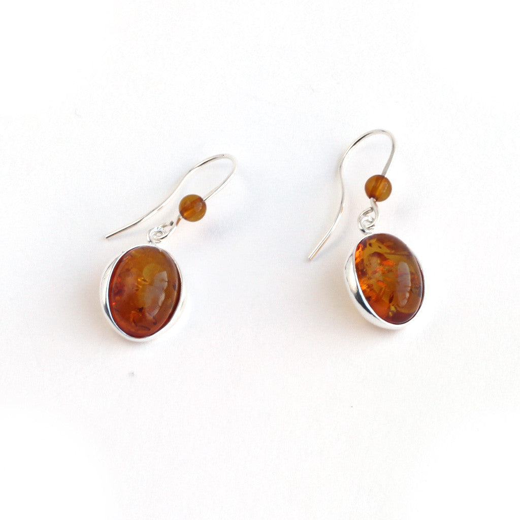 Baltic Amber Elegant Hanging Earrings available at The Amber Room