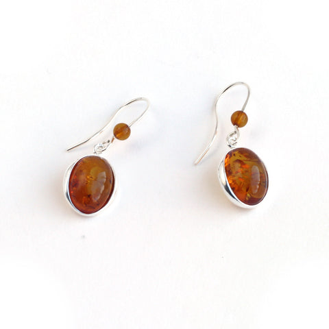 Baltic Amber Elegant Hanging Earrings