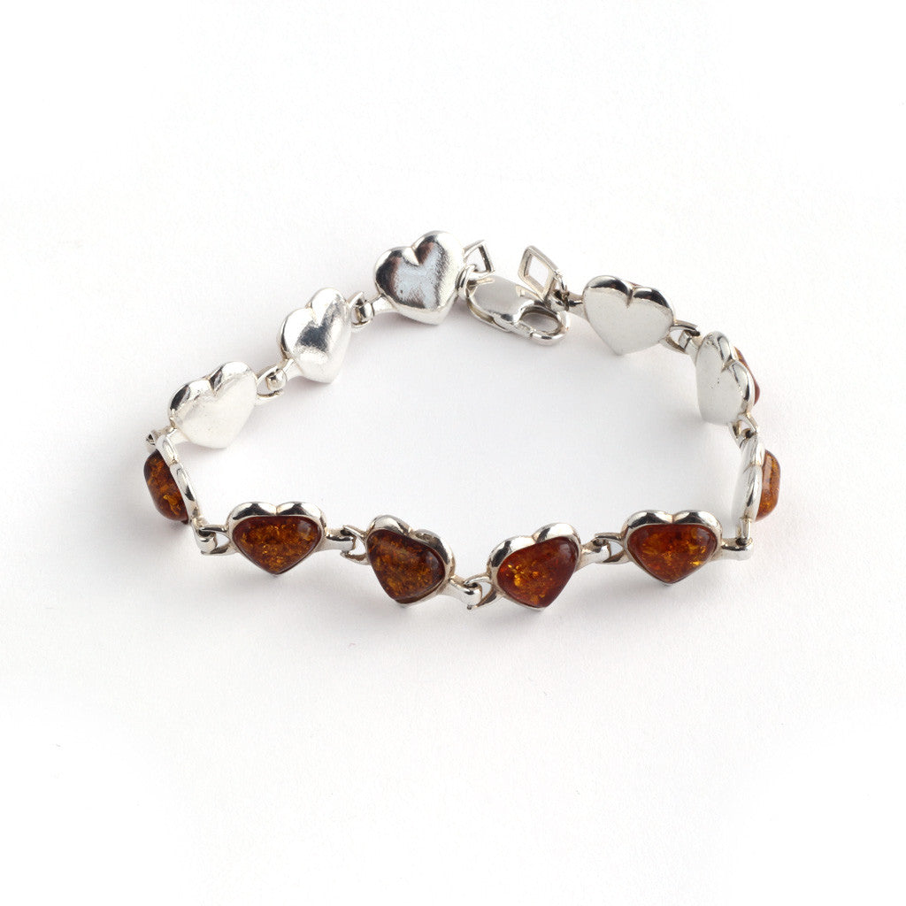 Baltic Amber Heart Bracelet available at The Amber Room
