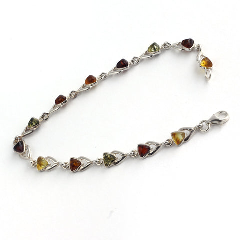 Baltic Amber Variety Triangle Stones Bracelet