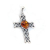 Baltic Amber Center Celtic Cross Pendant available at The Amber Room