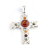 Baltic Amber Variety Celtic Cross Pendant