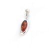 Baltic Amber Oval Silver Pendant available at The Amber Room