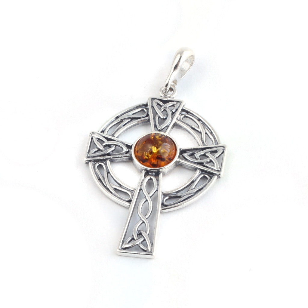 Baltic amber celtic cross pendant the amber room baltic amber celtic cross pendant available at the amber room mozeypictures Gallery