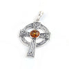 Baltic Amber Celtic Cross Pendant available at The Amber Room