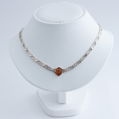 Baltic Amber Infinity Necklace