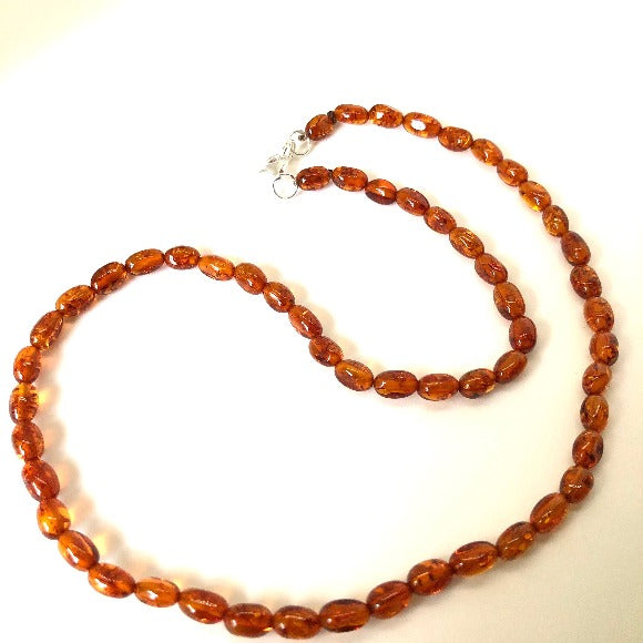 Delicate Baltic Amber Bead Necklace