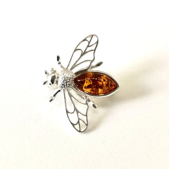 Baltic Amber Bee Pin