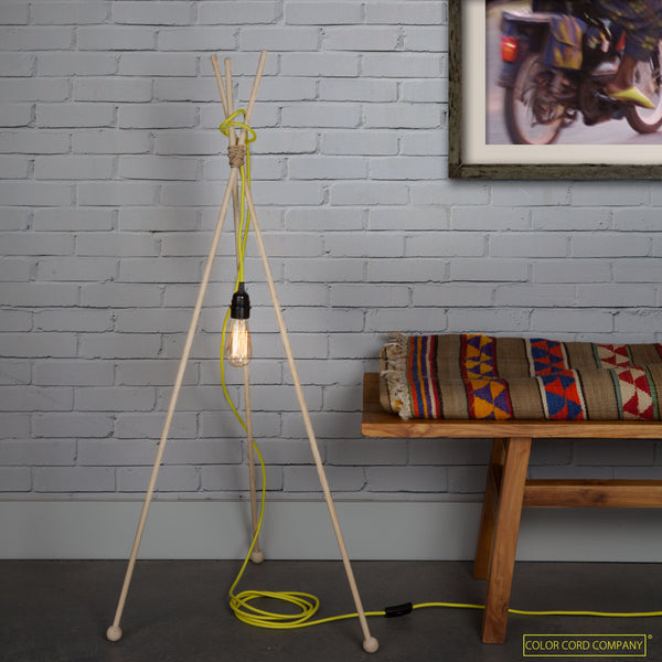 DIY Mod Lamp with Color Cord set and World Effect Furniture and Rug