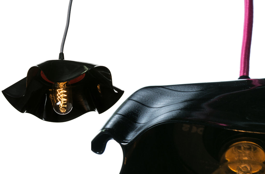 melted vinyl record lamp shades