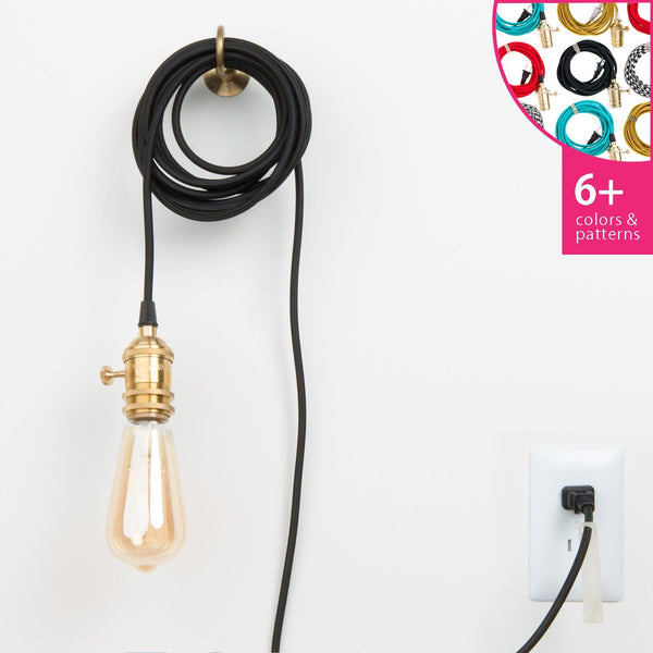 Plug-In Pendant Light Cord Set - Brass