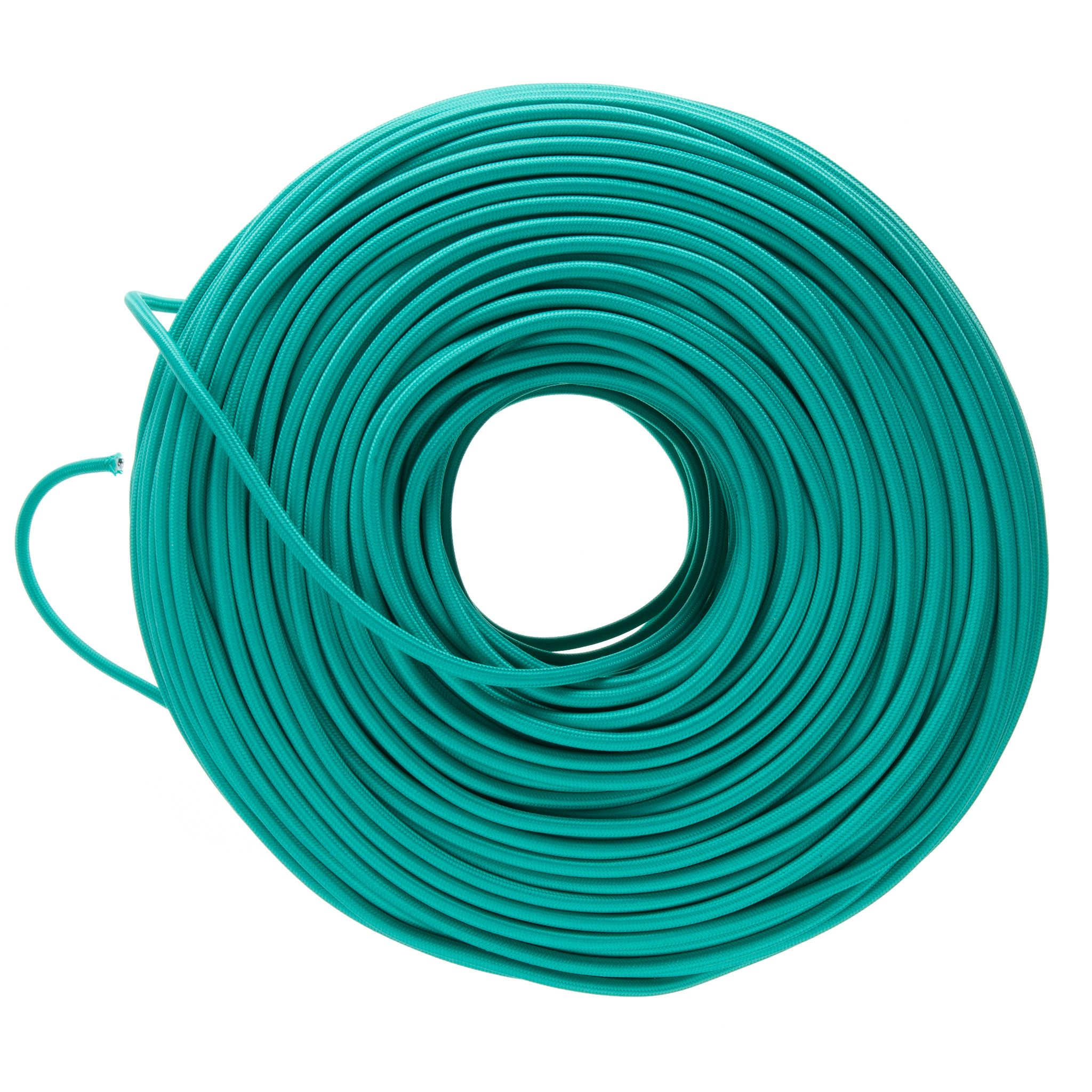 Cloth Covered Electrical Wire- Teal | Color Cord Company