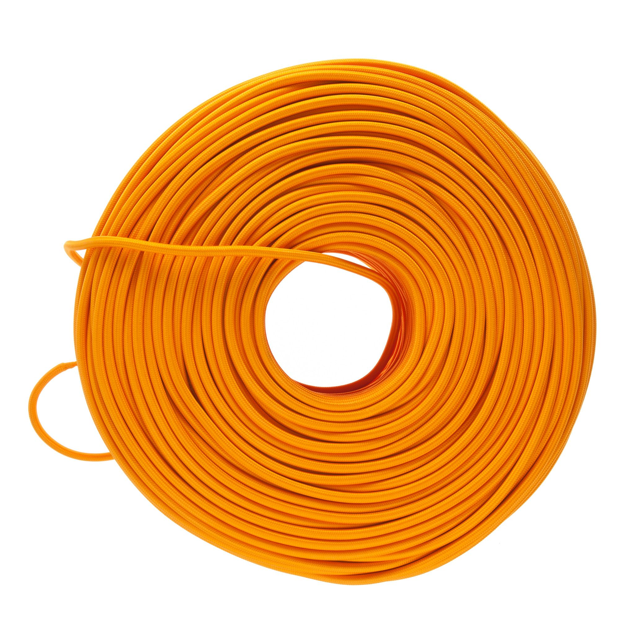 So Cord Listed 3 4 5 Conductor So Sow Cable Flexible Cored: DIY Fabric Wire By The Foot - Tangerine