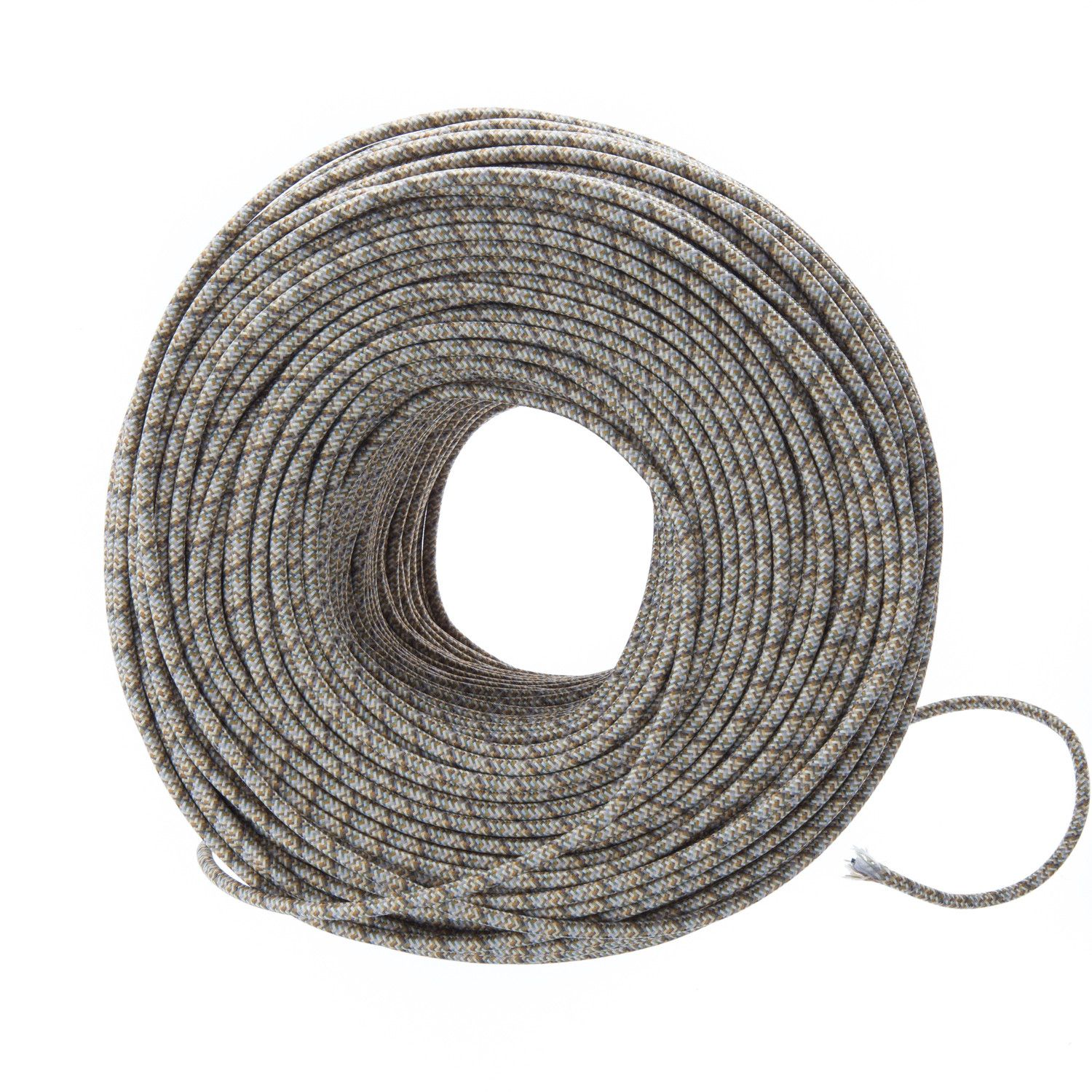 Cloth Covered Wire - Neutral Tweed | Color Cord Company