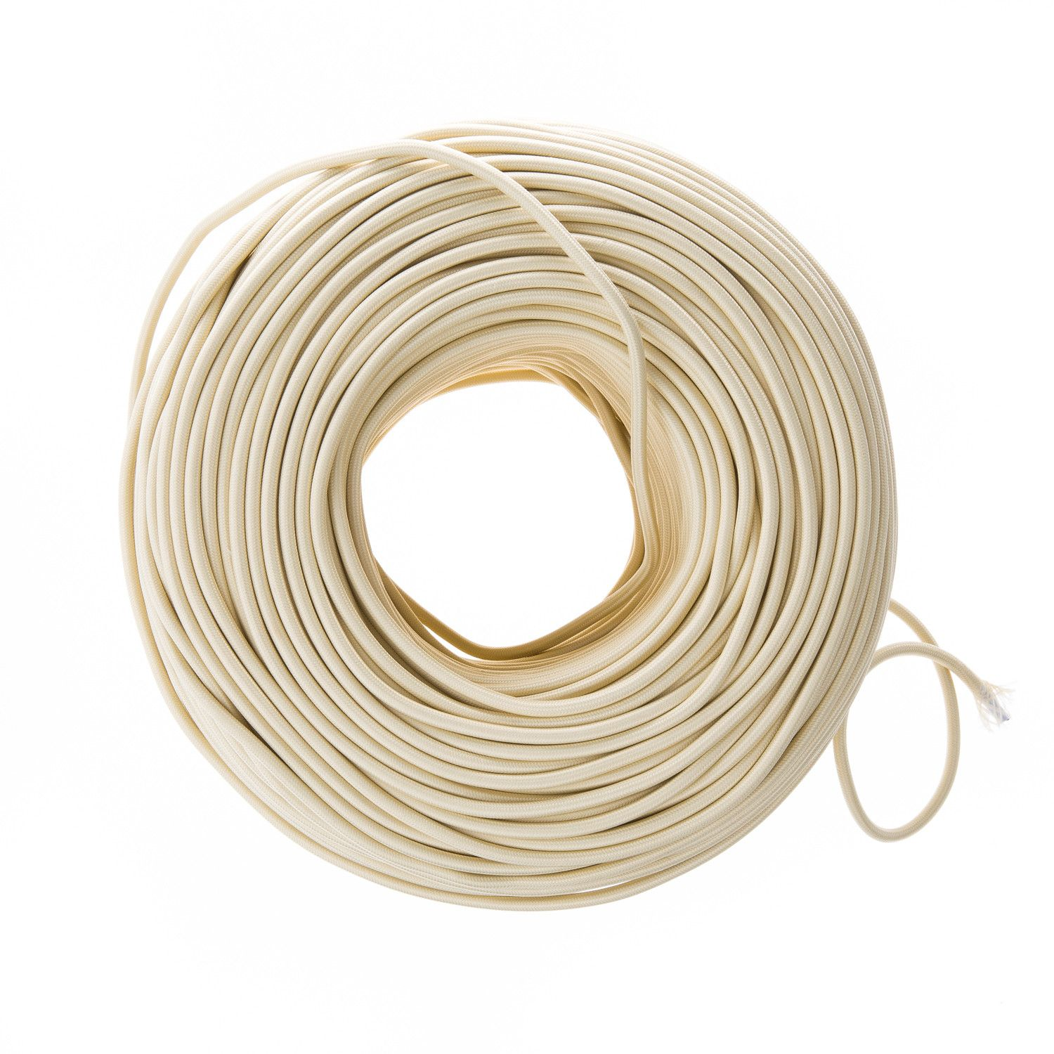 Cloth Covered Electrical Wire - Sand | Color Cord Company