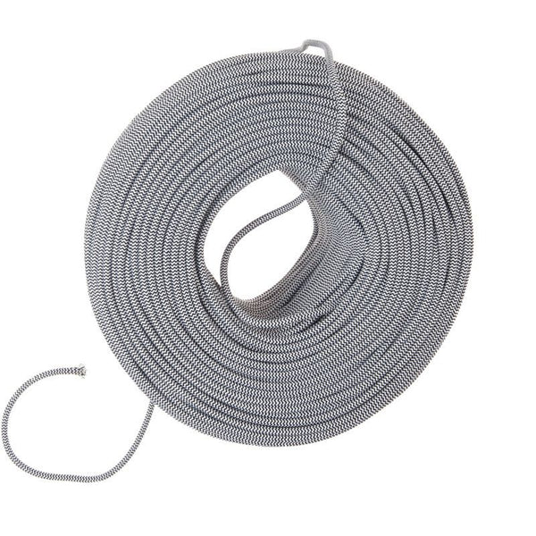 So Cord Listed 3 4 5 Conductor So Sow Cable Flexible Cored: Cloth Covered Wire - Black & White ZigZag