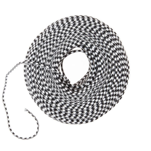 So Cord Listed 3 4 5 Conductor So Sow Cable Flexible Cored: Cloth Covered Wire - Black & White Houndstooth