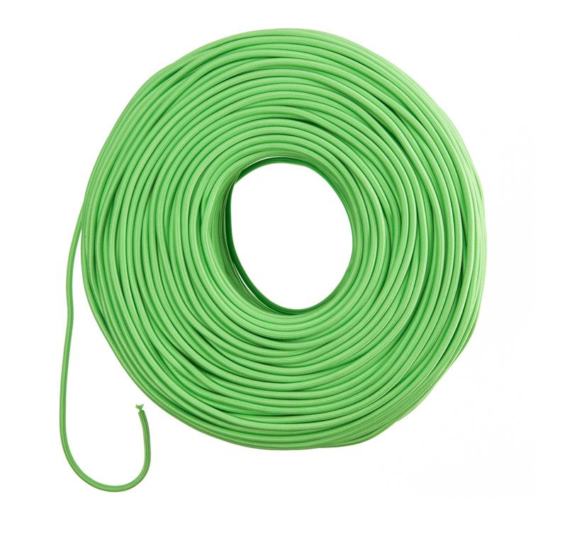So Cord Listed 3 4 5 Conductor So Sow Cable Flexible Cored: Cloth Covered Wire - Lime Green