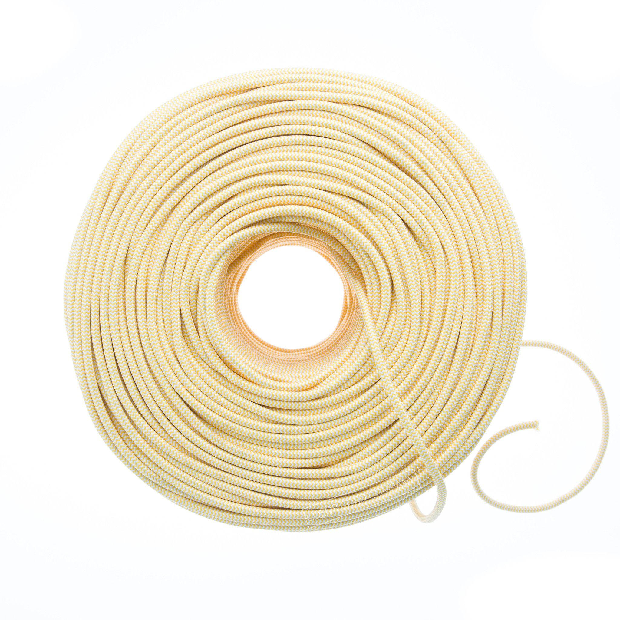 So Cord Listed 3 4 5 Conductor So Sow Cable Flexible Cored: Fabric Covered WIre - Yellow & White ZigZag