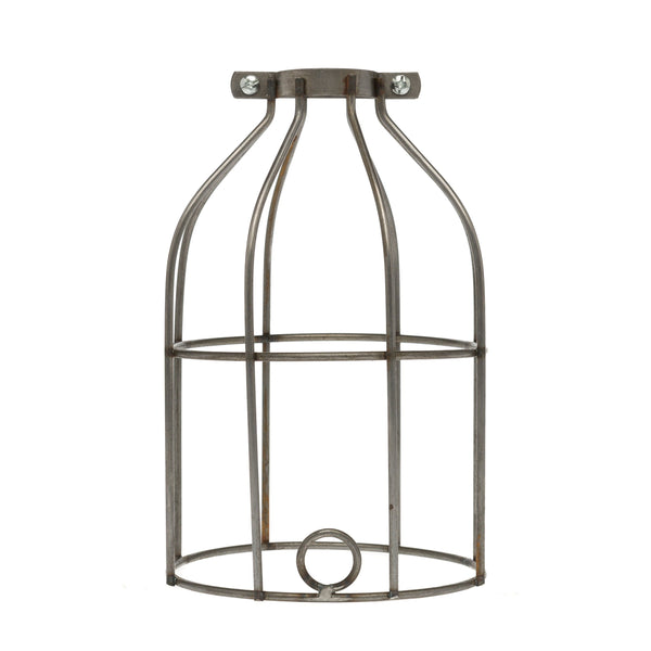 industrial light bulb cage raw metal color cord company. Black Bedroom Furniture Sets. Home Design Ideas