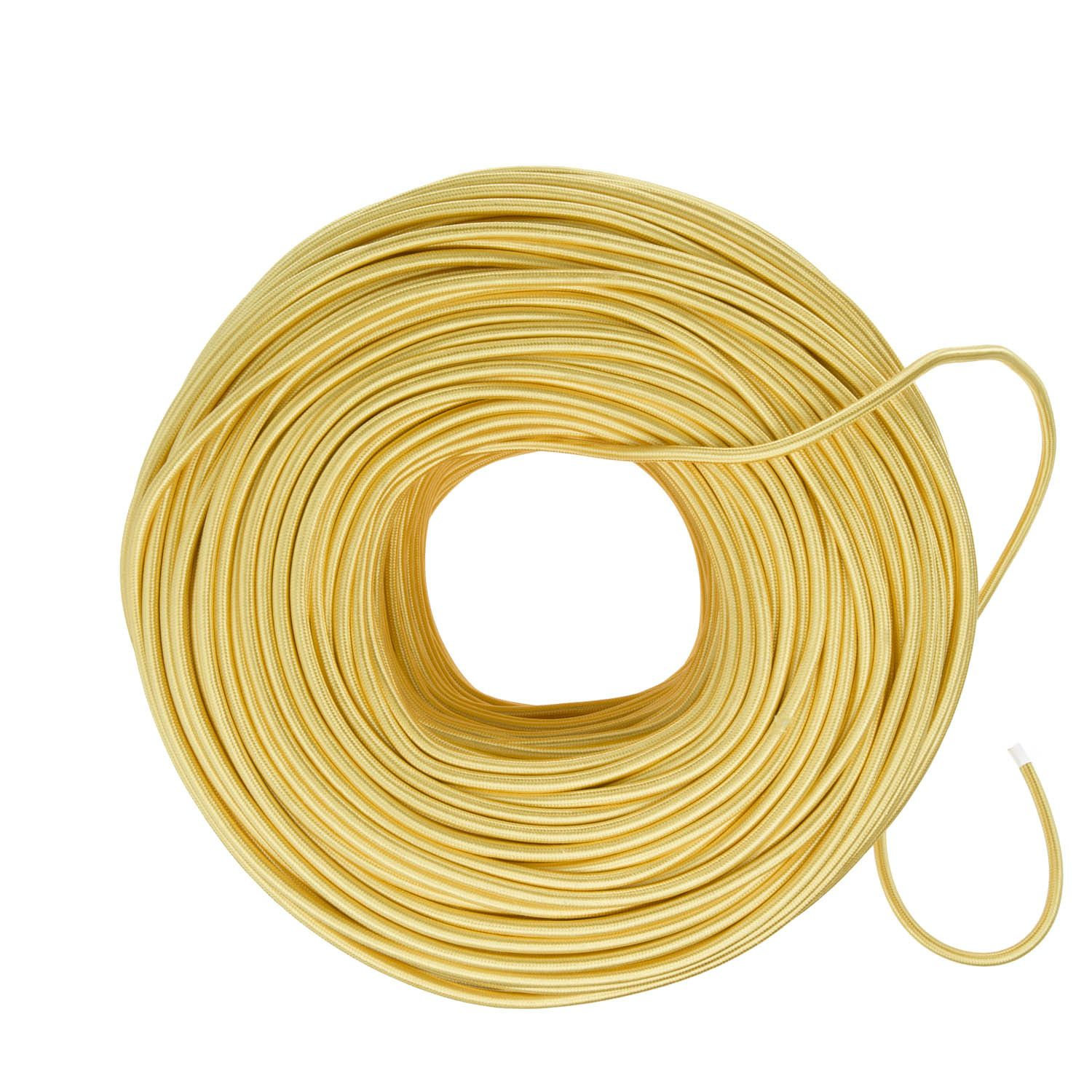 Cloth Covered Electrical Wire Yellow Gold Color Cord Company Home Wiring Cable Diy Fabric By The Foot