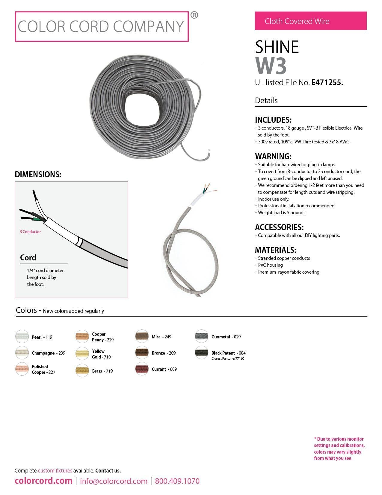 cloth electrical covered wire
