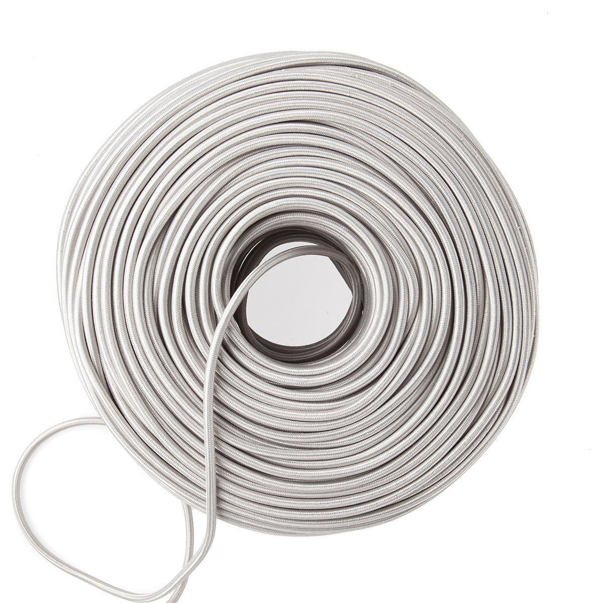 Cloth Covered Electrical Wire - Sterling Silver | Color Cord Company