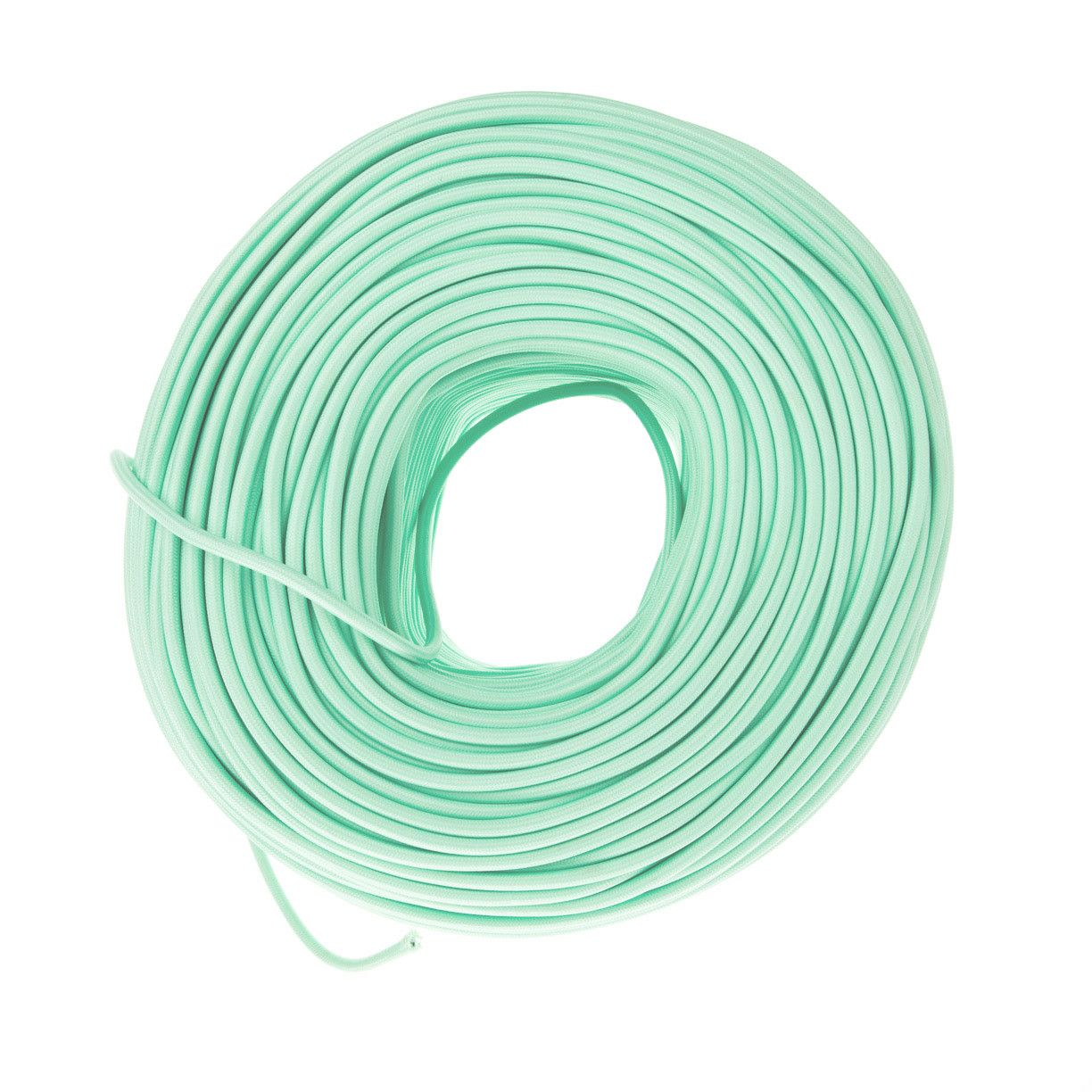 Cloth Covered Cord - Mint Green | Color Cord Company