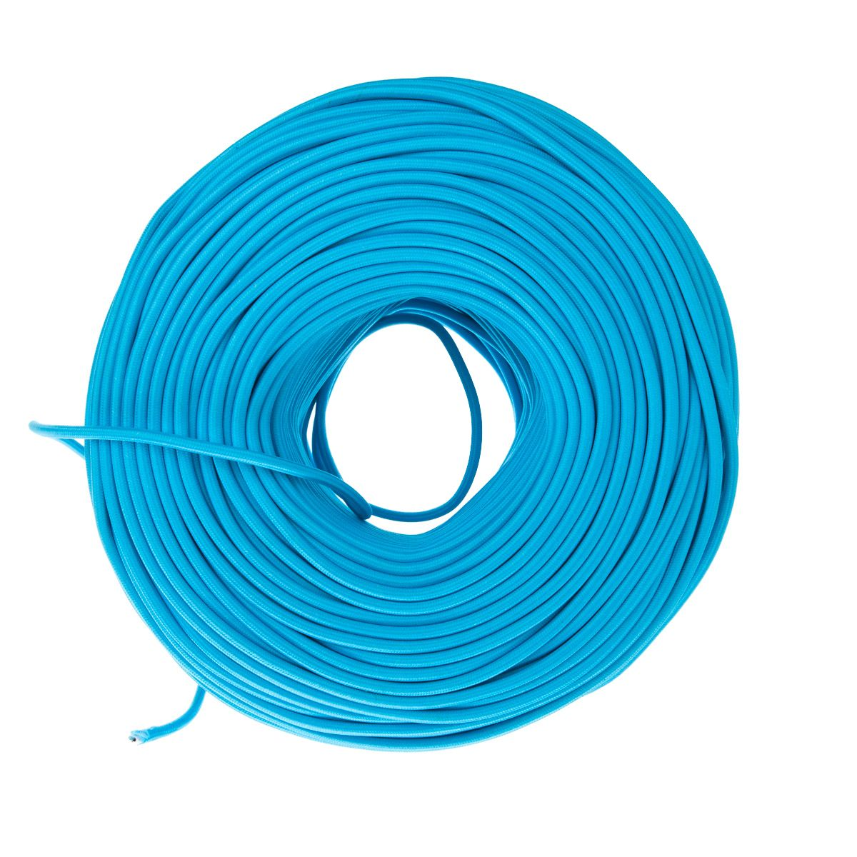 Cloth Covered Electrical Wire - Sky Blue | Color Cord Company