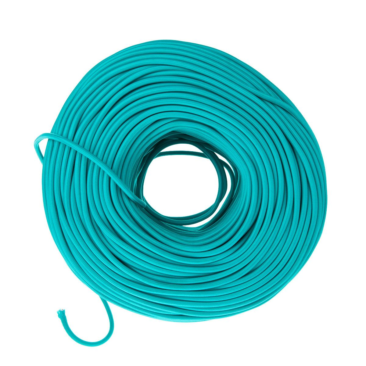 Cloth Covered Electrical Wire - Turquoise | Color Cord Company