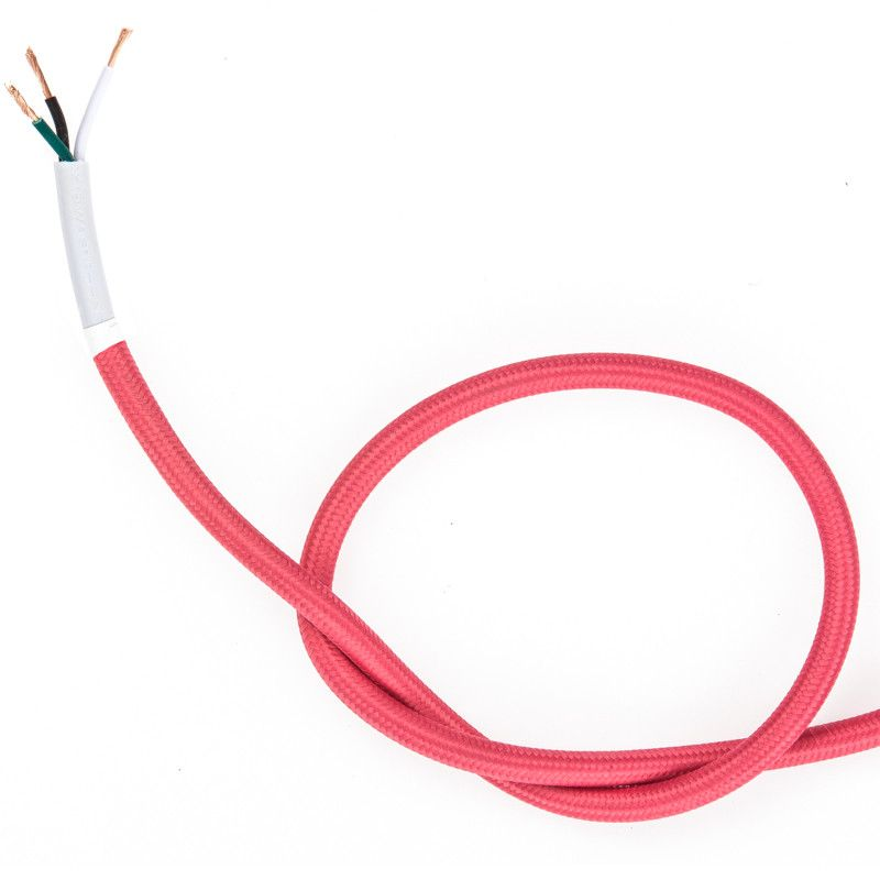 Cloth Covered Electrical Wire - Pink | Color Cord Company