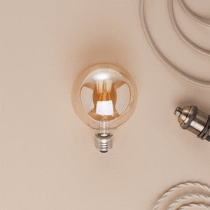 Fabric Covered Electrical Cord And DIY Lighting Supplies - Cool industrial style lamps made of washing machine parts