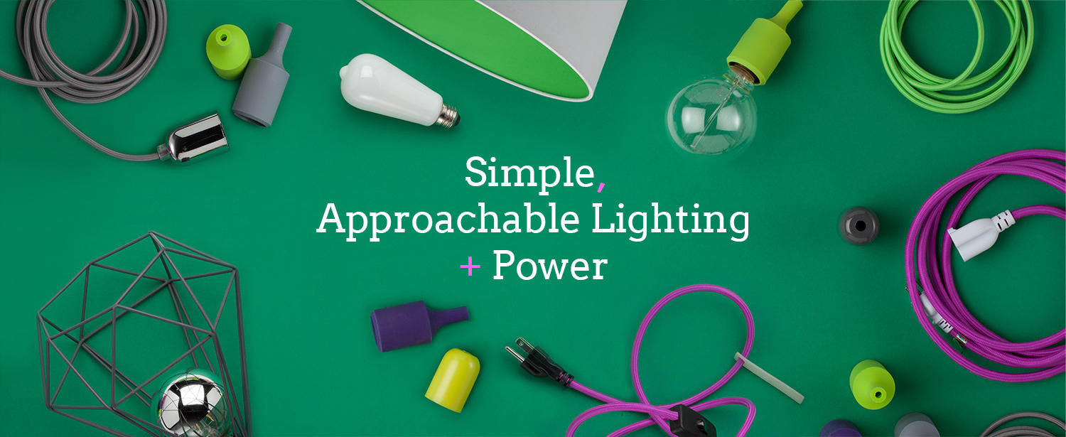 Fabric Covered Electrical Cord And Diy Lighting Supplies Wiring A Light To Plug Socket Fixtures Wire